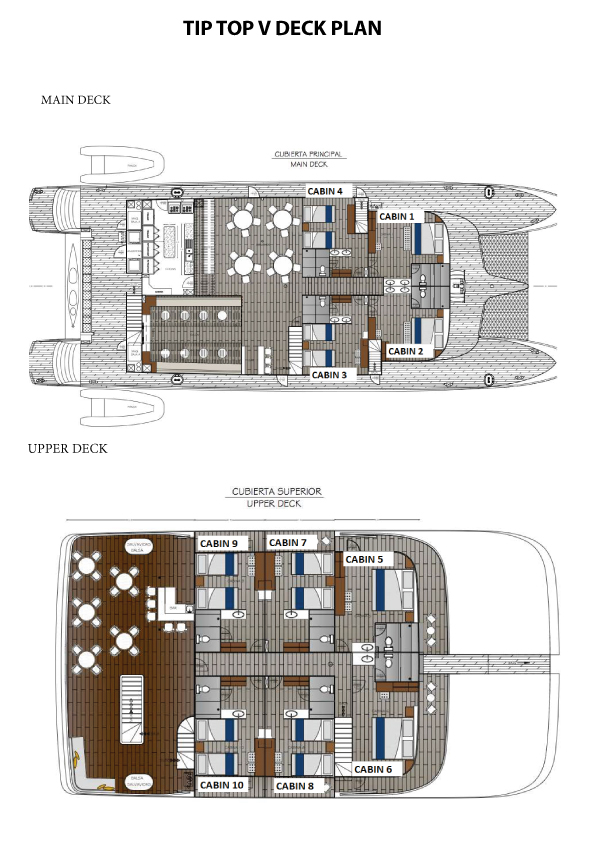 TIP TOP V DECK PLAN