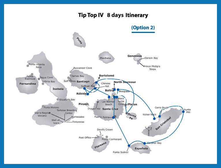 itinerary tip top iv option 2f